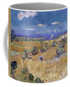 Wheat Fields With Reaper, Auvers Coffee Mug