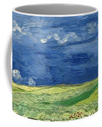 Wheatfield Under Thunderclouds At Wheat Fields Van Gogh Series, By Vincent Van Gogh Coffee Mug