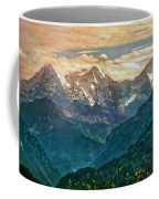 When The Sun Says Good Bye To The Mountains  Coffee Mug