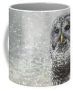 When Winter Calls Owl Art Coffee Mug
