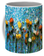 Whimsical Poppies On The Blue Wall Coffee Mug
