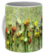 Whimsical Poppies On The Wall Coffee Mug