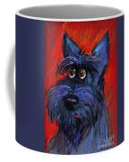 whimsical Schnauzer dog painting Coffee Mug