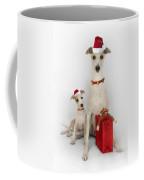 Whippet Christmas Coffee Mug by John Clum