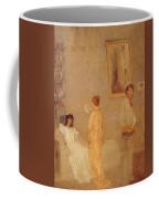 Whistler In His Studio James Abbott Mcneill Whistler Coffee Mug