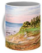 Whistling Straits Golf Course 17th Hole Coffee Mug by Bill Holkham