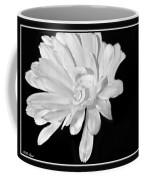 White And Black Flower Painting Coffee Mug