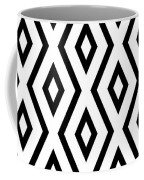 White And Black Pattern Coffee Mug by Christina Rollo