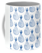 White And Blue Pineapple Party Coffee Mug
