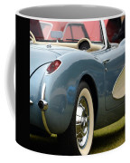 White And Light Blue Corvette Coffee Mug