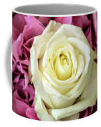 White And Pink Roses Coffee Mug