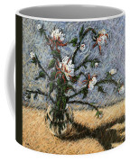 White And Red Dahlias Coffee Mug