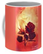 White And Red Roses Coffee Mug