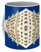 White Apartment Block Abstract And Blue Sky Coffee Mug