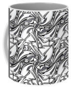 White Arrows Seamless Pattern Coffee Mug