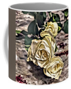 White Baby Roses Coffee Mug