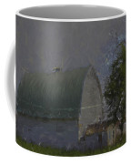 White Barn Digital Painting Coffee Mug