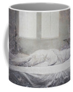 White Bed Sheet- Warmth Coffee Mug