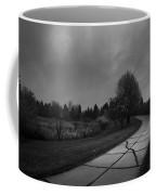 White Bench Horizontal Bw Coffee Mug