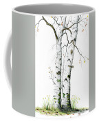 White Birch Coffee Mug