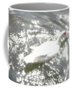 White Bird On Sparkly Water Coffee Mug