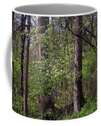 White Blossoms In The Woods Coffee Mug
