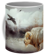White Buffalo And Raven Coffee Mug