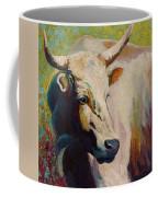 White Bull Portrait Coffee Mug