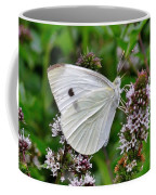 White Butterfly At The Good Earth Market Coffee Mug