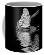 White Butterfly Bw Coffee Mug