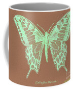 White Butterfly Swallow Tail Le Papillon Machaon Coffee Mug