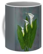 White Calla Lilies Coffee Mug