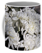 White Chrysanthemum Coffee Mug