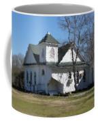 White Church Near The Lake Coffee Mug