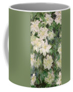 White Clematis Coffee Mug by Claude Monet