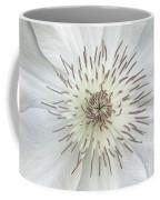 White Clematis Flower Garden 50121b Coffee Mug