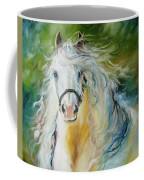 White Cloud The Andalusian Stallion Coffee Mug