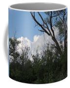 White Clouds With Trees Coffee Mug