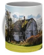 White Country Barn Coffee Mug