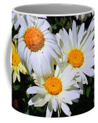 White Daisy Flowers Coffee Mug