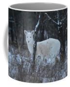 White Deer In Winter Coffee Mug