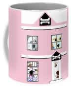 White Dog House Coffee Mug