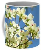White Dogwood Flowers 1 Blue Sky Landscape Artwork Dogwood Tree Art Prints Canvas Framed Coffee Mug