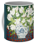 White Double Tulips And Alstroemerias Coffee Mug