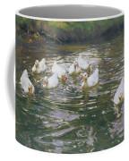 White Ducks On Water Coffee Mug