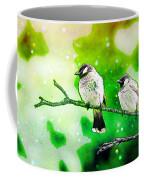 White-eared Bulbul - Watercolor Coffee Mug