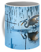 White Egret At Horicon Marsh Wisconsin Coffee Mug
