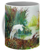 White Egret Swamp Coffee Mug