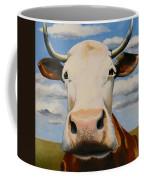 White Face Coffee Mug