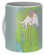 White Fawn Lilies In The Rain Coffee Mug